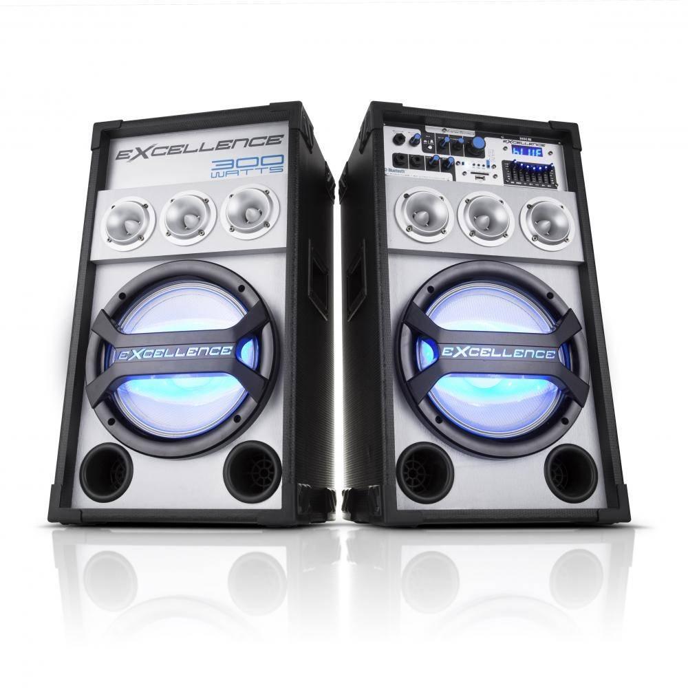 Caixa-Amplificada--Bluetooth-300W-RMS-Entrada-USB-Radio-FM-Display-LED---PK3000---NKS