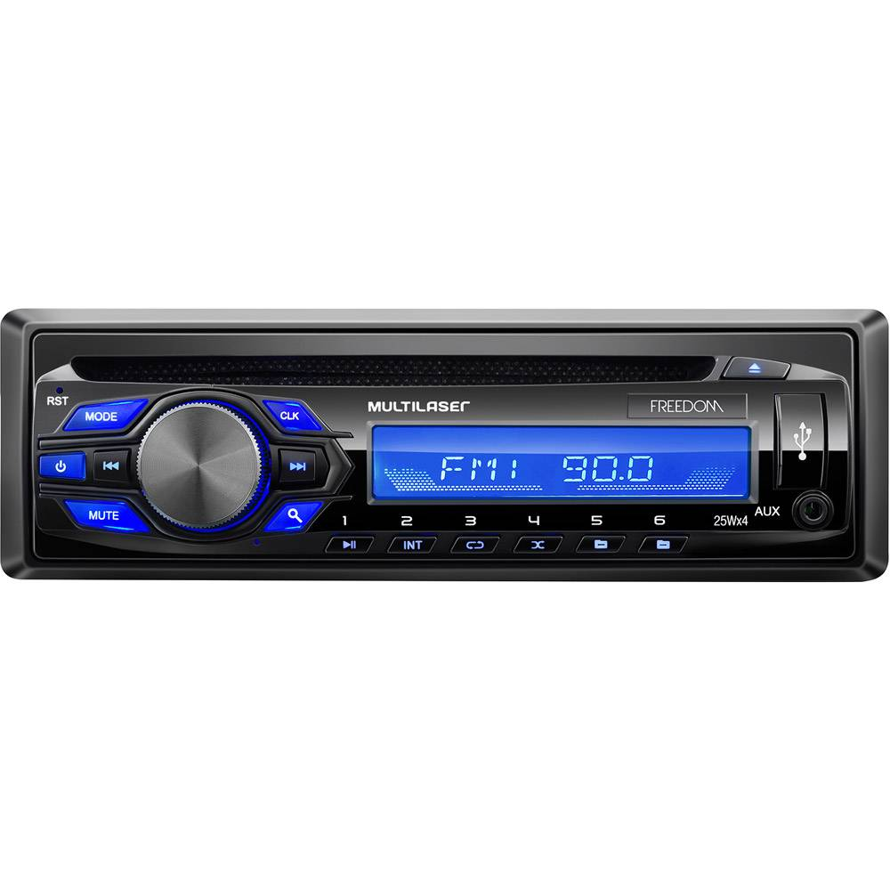 Som-Automotivo-MP3-Player-Multilaser-Freedom-Radio-FM-CD-USB---P3239---Preto