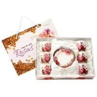 Conjunto-de-Xicaras-de-Cafe-com-Pires-Rosas-de-Porcelana-DMP2550---Dm-Brasil