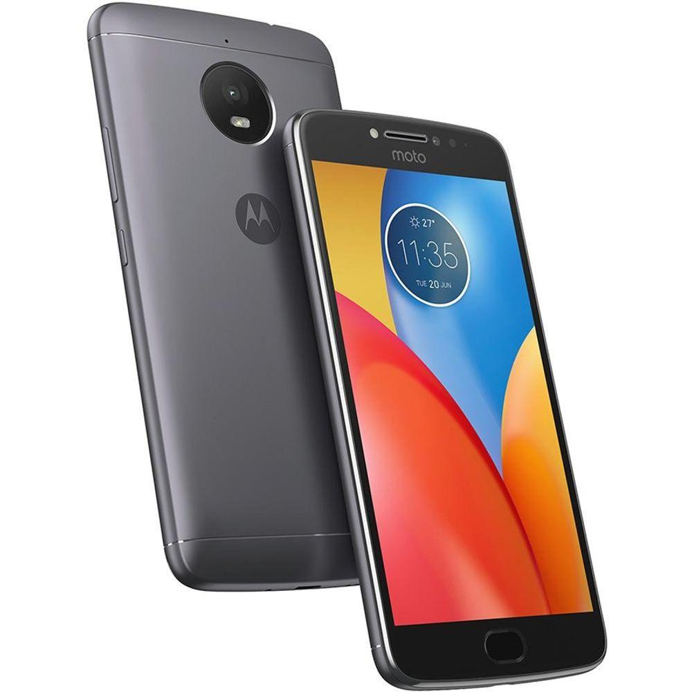 """Smartphone-Moto-E4-Plus-Dual-Chip-4G-Android-7.1.1-Tela-5.5""""-16GB-Camera-13MP---Titanium---Motorola"""