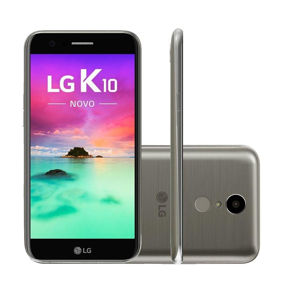 Smartphone-LG-K10-Dual-Chip-4G-Android-7.0-Tela-5.3--32GB-Camera-13MP---Titanium