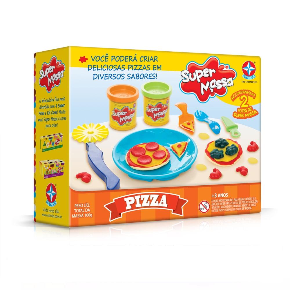 108daad412 Massinha de Modelar Super Massa Pizza 797028 - Estrela - nivalmix