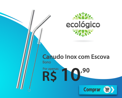 banner canudo inox