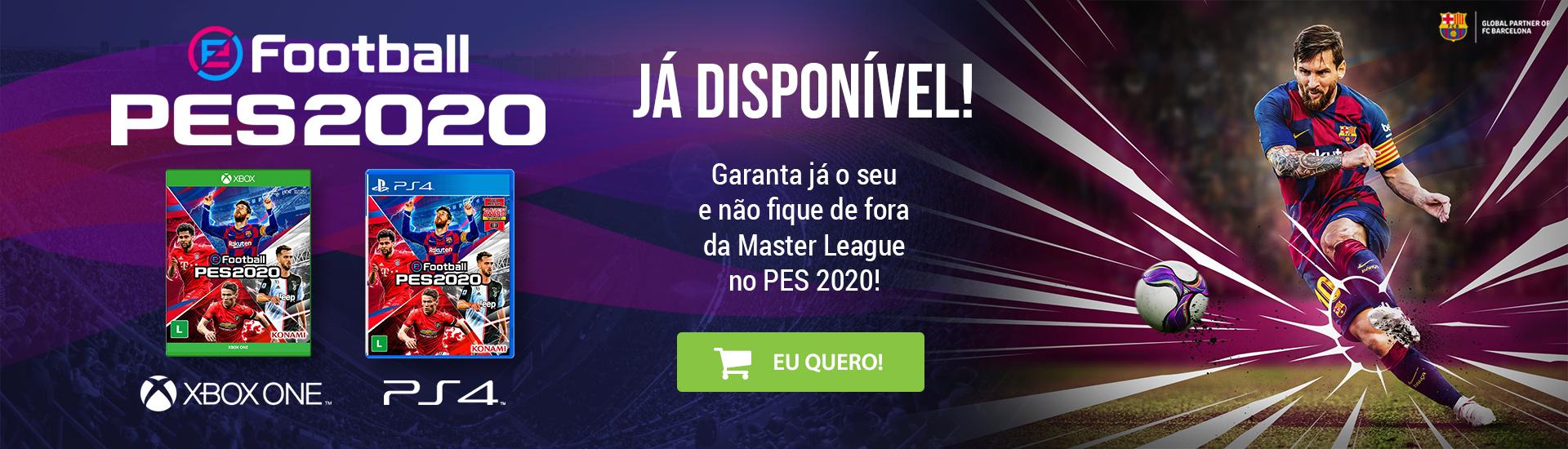banner pes 2020 disponivel